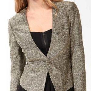 Forever 21 | Cropped Gold Glitter Blazer Jacket |